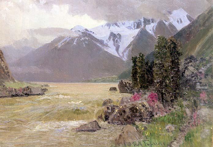 Гуркин Катунь весной 1930